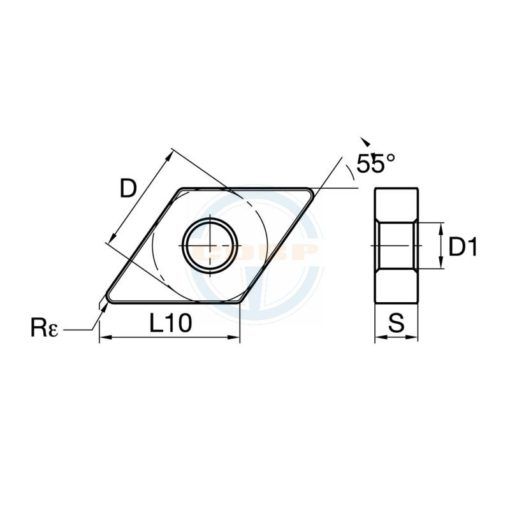 DNMG150604-U PP5105 Пластина тв. сплав CDBP