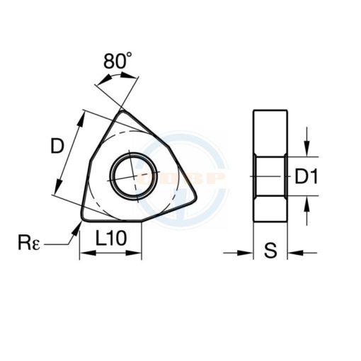 VNMG160408 TM P115 Пластина тв. сплав CDBP