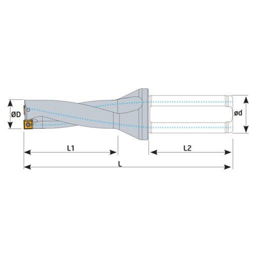 TSX440D40-4 Корпус сверла