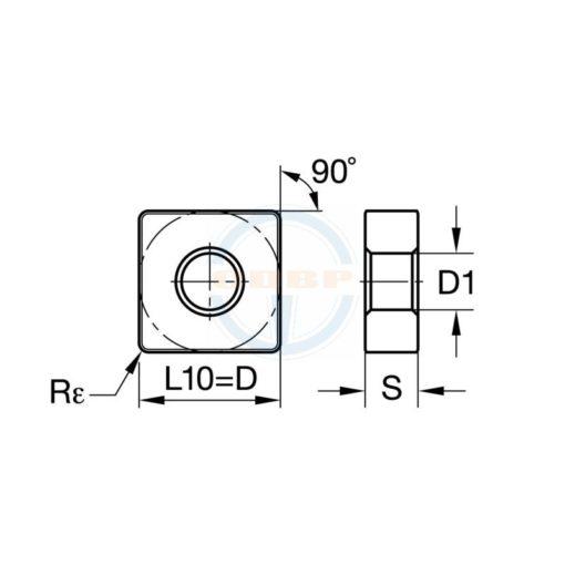 SNMG120404 MD BPS256 Пластина тв. сплав CDBP