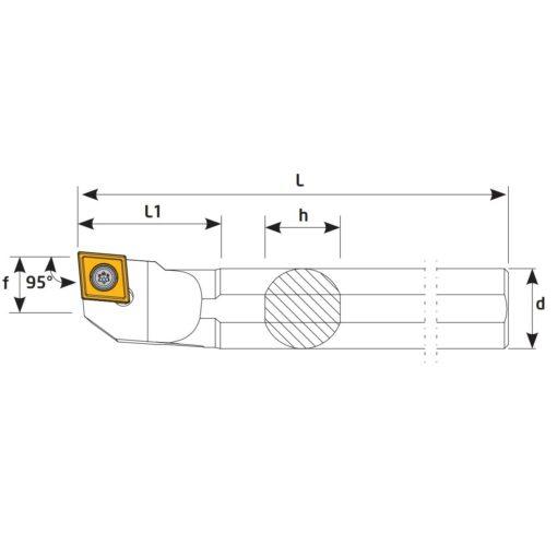 A32S-SCLCL09 Державка токарная