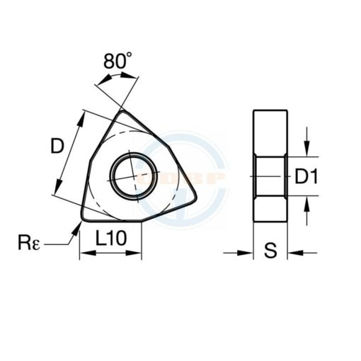WNMG080408 RA BPS251 Пластина тв. сплав CDBP