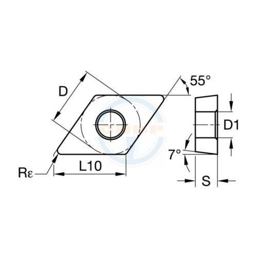 DCMT070204 MD BPS256 Пластина тв. сплав CDBP