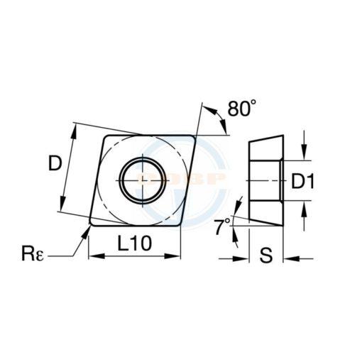 CCGT120404 LHC BU810 Пластина тв. сплав CDBP