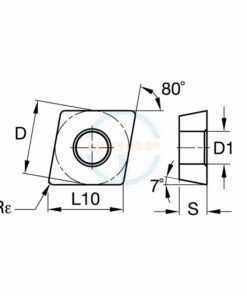 CCMT060204 MX BPG308 Пластина тв. сплав CDBP