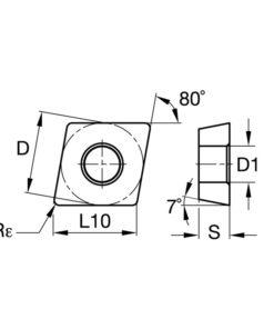 CCMT120412 RA BPS101 Пластина тв. сплав CDBP