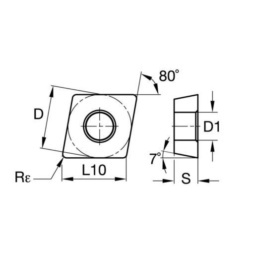 CCMT120412 RA BPS371 Пластина тв. сплав CDBP