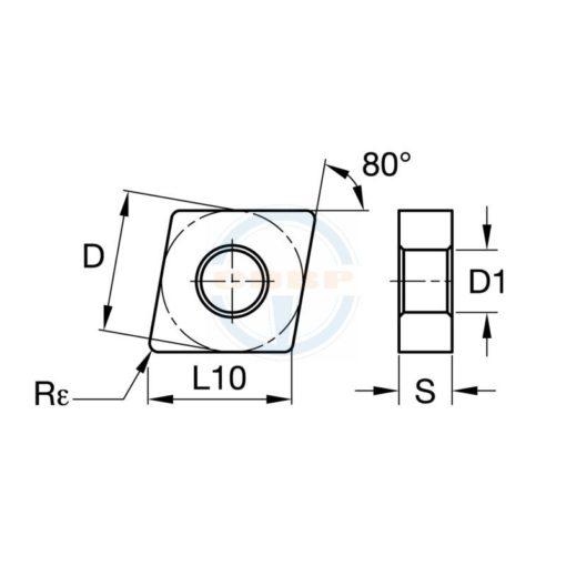 CNMG120404 LH BU810 Пластина тв. сплав CDBP