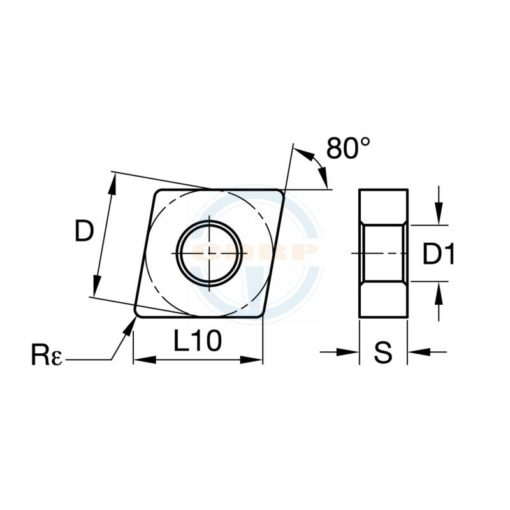 CNMG120408 HQ 5622 Пластина тв. сплав CDBP