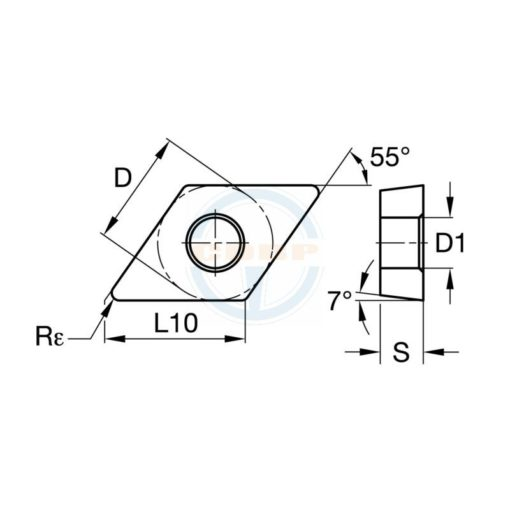 DCMT070204 MD BPS251 Пластина тв. сплав CDBP