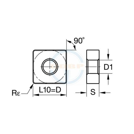 SNMG120404 MD BPS251 Пластина тв. сплав CDBP