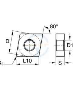 CNMG120408 SN BPG20B Пластина тв. сплав CDBP