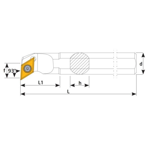 S16Q-SDUCR07 Державка токарная