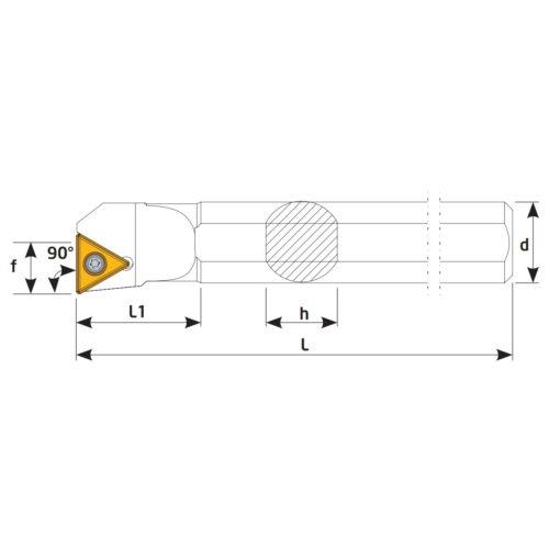S25S-STFCR16 Державка токарная