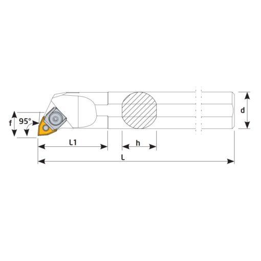 S16Q-MWLNR06 Державка токарная