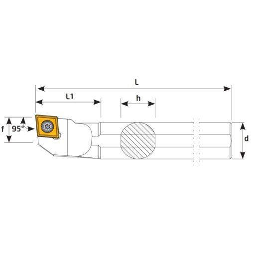 S16Q-SCLCL09 Державка токарная