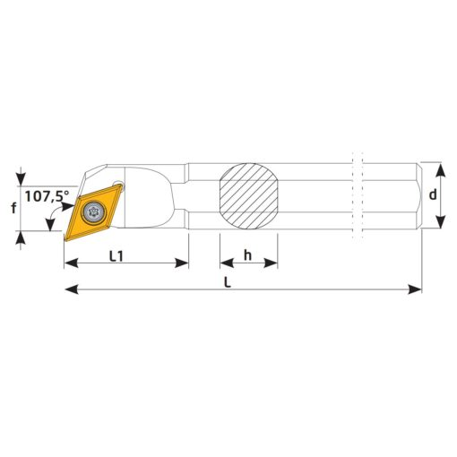 S16Q-SDQCR11 Державка токарная