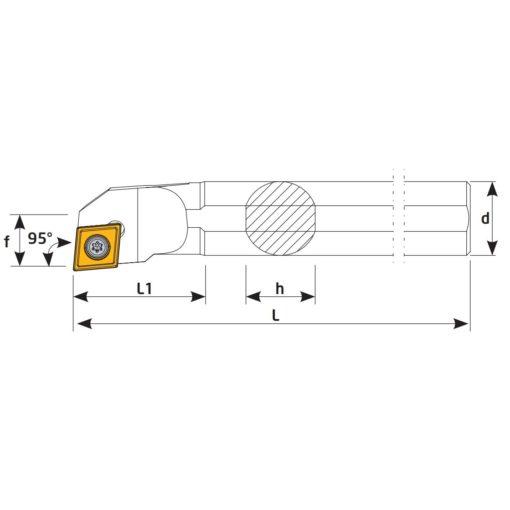 S20R-SCLCR12 Державка токарная