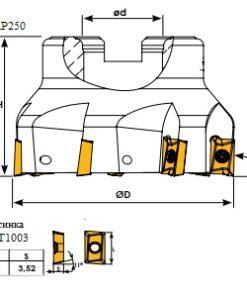 BAP250R D80-A22-6T Корпус фрезы (, Z=)