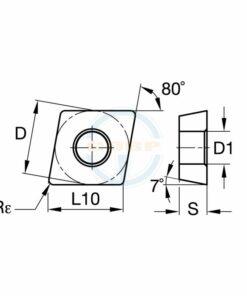 CCMT060204 MX BPG20B Пластина тв. сплав CDBP